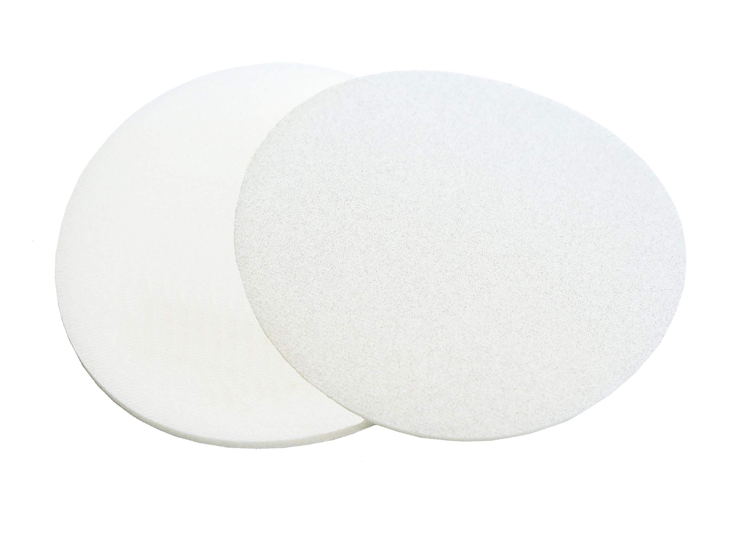 Abrasilk 6 Inch Auto Body Hook and Loop Sanding Discs (500 Grit, 10 Pack)