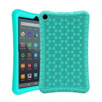 AVAWO Silicone Case for Amazon Fire 7 Tablet with Alexa (7th & 9th Generation, 2017 & 2019 Release - Anti Slip Shockproof Light Weight Protective Cover, Turquoise