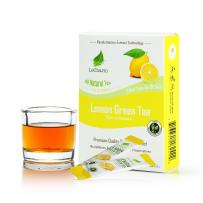 Lemon Green Instant Tea on the Go LeCharm 100% Natural Tea Extract, Unsweetened Drink Instant Crystallized Tea Powder for Pure Water, Iced Tea and Hot Tea(10 Sachets)