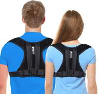 【New Version】Universal Posture Corrector for Women and Men - Adjustable Upper Back Brace for Clavicle Posture Support Back Straightener Providing Pain Relief from Neck Back and Shoulder