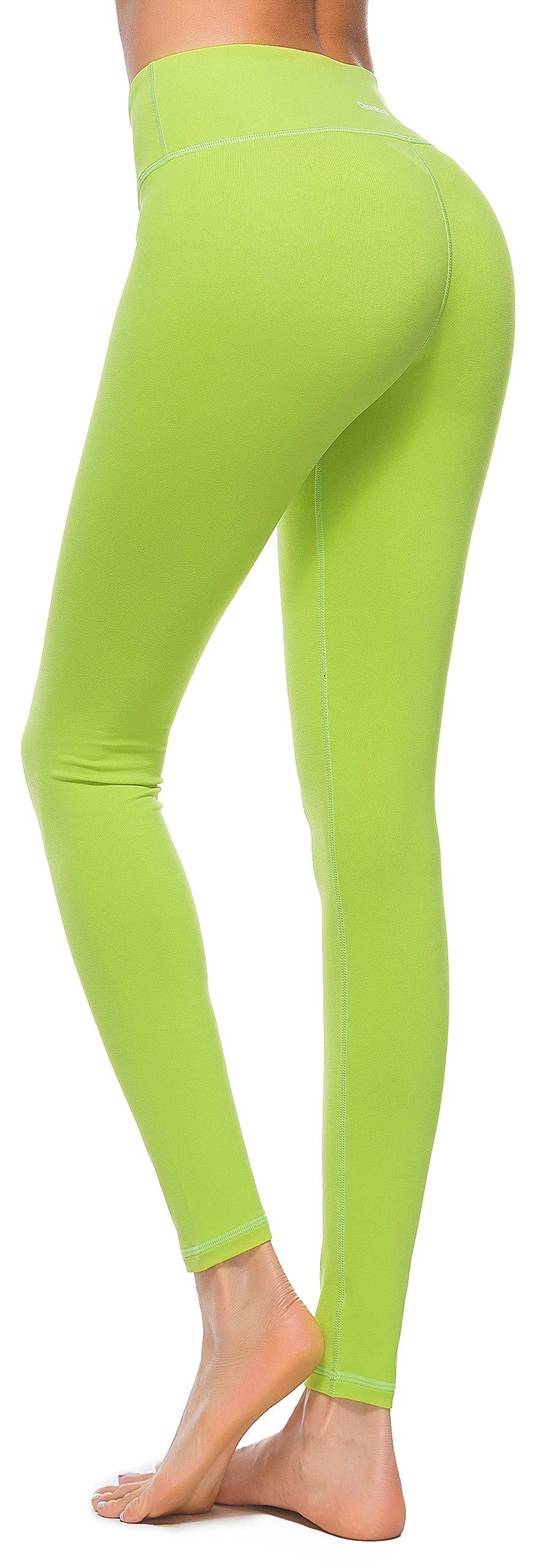 Womens Yoga Pants High Waist Yoga Workout Leggings Running Pants Tummy Control