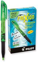 PILOT FriXion Light Erasable Highlighters, Chisel Tip, Green Ink, 12 Count (46513)