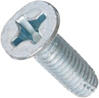 """Steel Thread Cutting Screw, Zinc Plated, 82 Degree Flat Head, Phillips Drive, Type F, 5/16""""-18 Thread Size, 1"""" Length (Pack of 25)"""