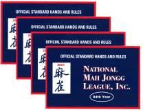 National Mah Jongg League 2021 Standard Size Card - Mah Jongg Card - 4 Pack