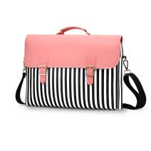 Pink Laptop Bag 13 inch for Women PU Leather Cute Shoulder Messenger Computer Case
