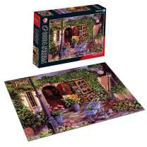 Puzzles For Adults Jigsaw Puzzles 1000 Pieces For Adults Kids- Evening Courtyard Large Difficult Hard Jigsaw Puzzle Game Toys Gift