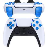 eXtremeRate Replacement D-pad R1 L1 R2 L2 Triggers Share Options Face Buttons for DualSense 5 PS5 Controller, Blue Full Set Buttons Repair Kits with Tool for Playstation 5 Controller