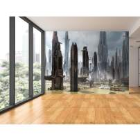 "Startonight Mural Wall Art Futuristic City - Urban Photo Wallpaper 100"" x 140"""