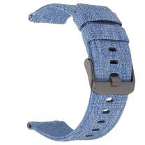 Canvas Quick Release Watch Band 20mm 22mm 24mm Nylon Watch Strap for Men Sturdy Breathable Replacement Watchband for Women
