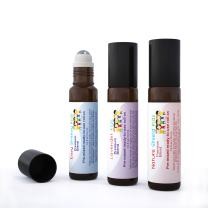 Aromata - 3 Bottle Set Nature Shield Kids Immune Boosting, Easy Breezy Kids no Mess, Hassle Free, Allergy Fighting, decongestant and Lavender Kids Calming and Soothing Helps Relax. 10 ml roll-on.