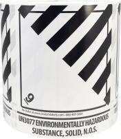 Hazard Class 9 D.O.T. UN3077 Environmentally Hazardous Substance Solid N.O.S. Labels 4 x 4 3/4 Inch Square 500 Adhesive Stickers