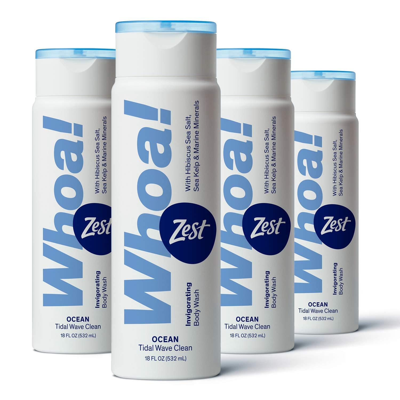 Zest Whoa Ocean Body Wash, 18 oz (Pack of 4)