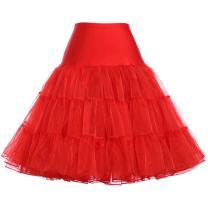 Kate Kasin Women's Crinoline Petticoat Underskirt Knee-Length Half Slips Tutu Skirt