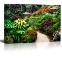 "Canvas Prints Wall Art - Beautiful Scenery/Landscape Colorful Flower Garden in Blossom | Modern Wall Decor/Home Decoration Stretched Gallery Canvas Wrap Giclee Print & Ready to Hang - 24"" x 36"""