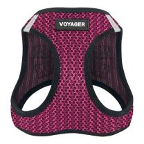 "Voyager Step-in Air Dog Harness - All Weather Mesh, Step in Vest Harness for Small and Medium Dogs by Best Pet Supplies - Fuchsia, Large (Chest: 18"" - 21"")"