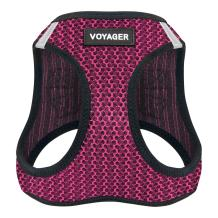 """Voyager Step-in Air Dog Harness - All Weather Mesh, Step in Vest Harness for Small and Medium Dogs by Best Pet Supplies - Fuchsia, Medium (Chest: 16"""" - 18"""")"""