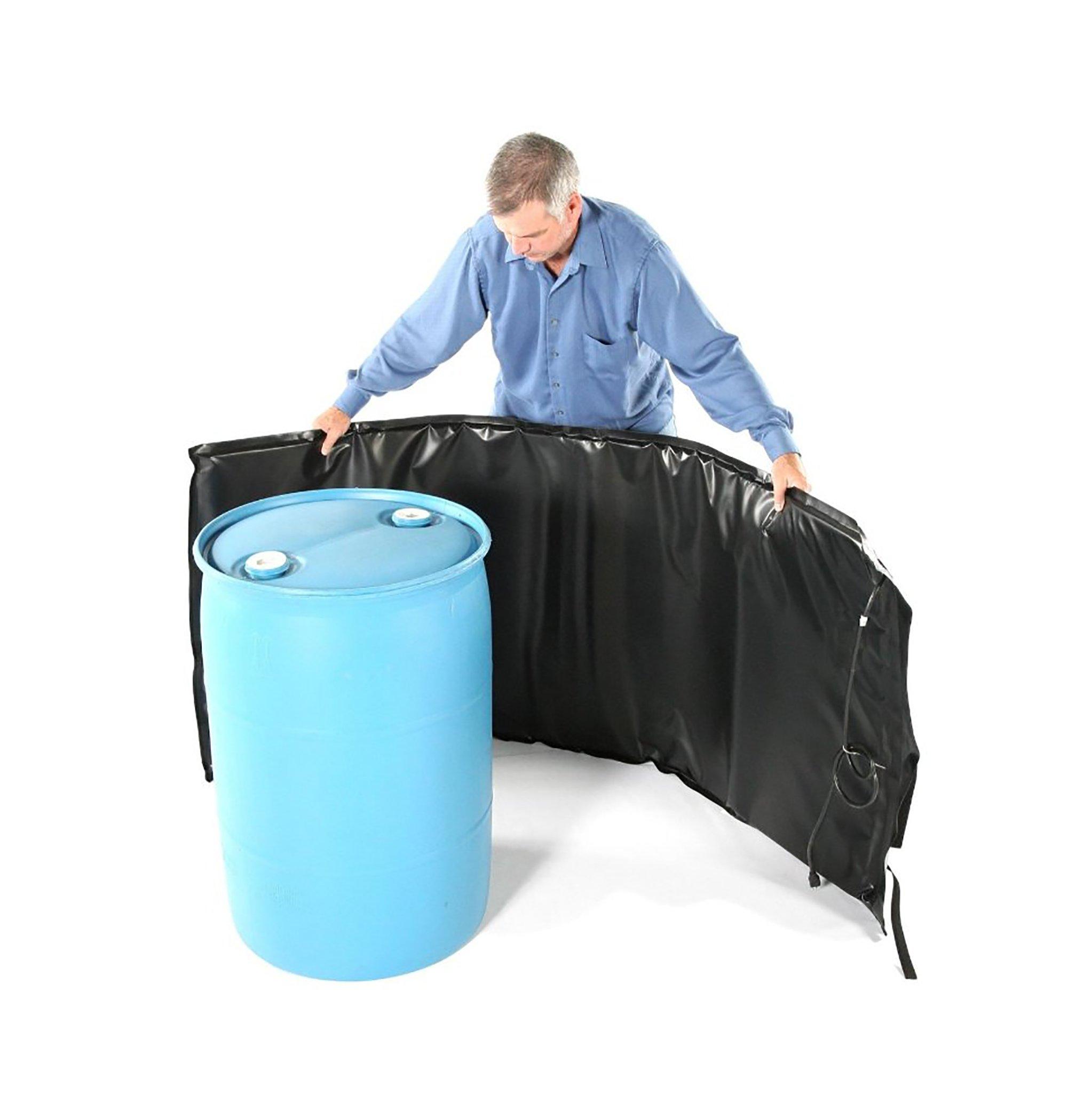 Powerblanket BH55PRO-240V Industrial Grade/Weather Resistant D-15 Vinyl Shell 55 gal Drum Heating Blanket with Adjustable Thermostat Controller, 240V, Black