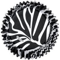 Wilton ColorCups Black/White Zebra Standard Baking Cups, 36 Count