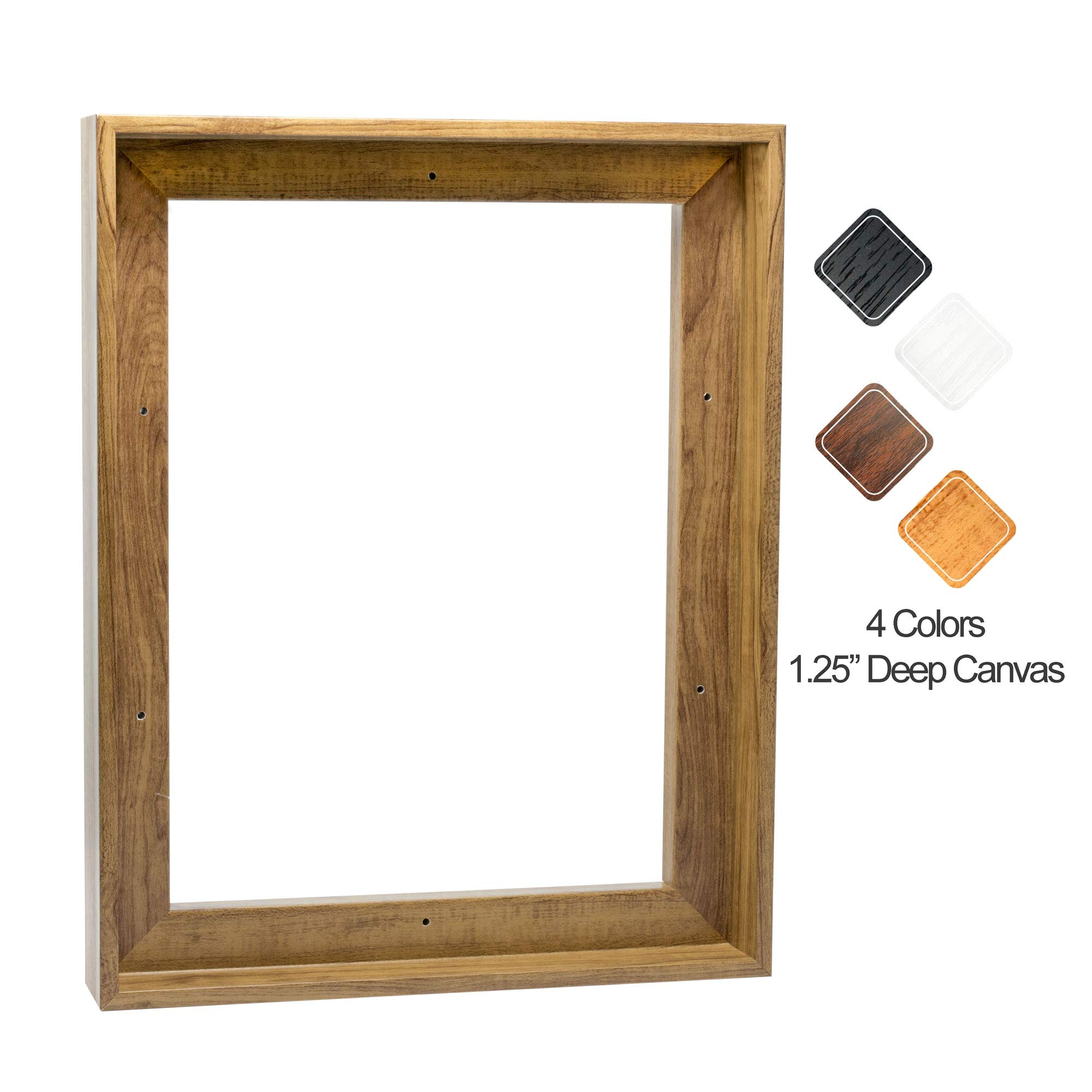 Canvas Floating Frame Picture Art Painting Display Wall Decor for 10x16 Inch Finished Canvas, Light Brown 11x17 Inch
