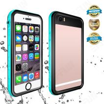 EFFUN iPhone 6s/6 Waterproof Case, IP68 Waterproof Cover Dirt/Snow/Shock Proof Case with Cell Phone Holder, PH Test Paper, Stylus Pen, Floating Strap Black/White/Pink/Aqua Blue/Light Blue