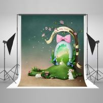 Kate 6.5ft(W) x10ft(H) Spring Easter Photography Props Flowers Tree Photo Studio Backgrounds Rubby Backdrops for Photo Studio Backgrounds