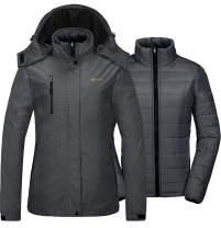 GEMYSE Women's Waterproof 3-in-1 Ski Snow Jacket Puffer Liner Insulated Winter Coat