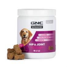GNC for Pets Advanced Hip & Joint Support Supplements for Senior Dogs | 90 ct Soft Chew Dog Supplements for Hip & Joint Support | with Chondroitin, Glucosamine, and Green Lipped Mussel, White