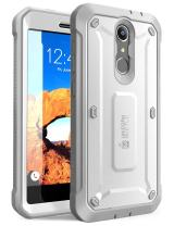 ZTE Blade Spark Case, SUPCASE Unicorn Beetle PRO Serie Full-Body Rugged Holster Case with Built-in Screen Protector for ZTE Blade Spark ZTE Grand X 4 and ZTE X 4 2017 Release (White/Gray)