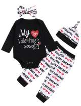 Baby Boys Girls Outfit Set My First Valentine's Day Bodysuit