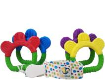 Ike & Leo Teething Toys| Baby Infant and Toddler with Pacifier Clip/Teether Holder | Best for Sore Gums Pain Relief | Eco Friendly BPA Free & Freezer Safe |Set of 4 Silicone Teethers (Bracelets)