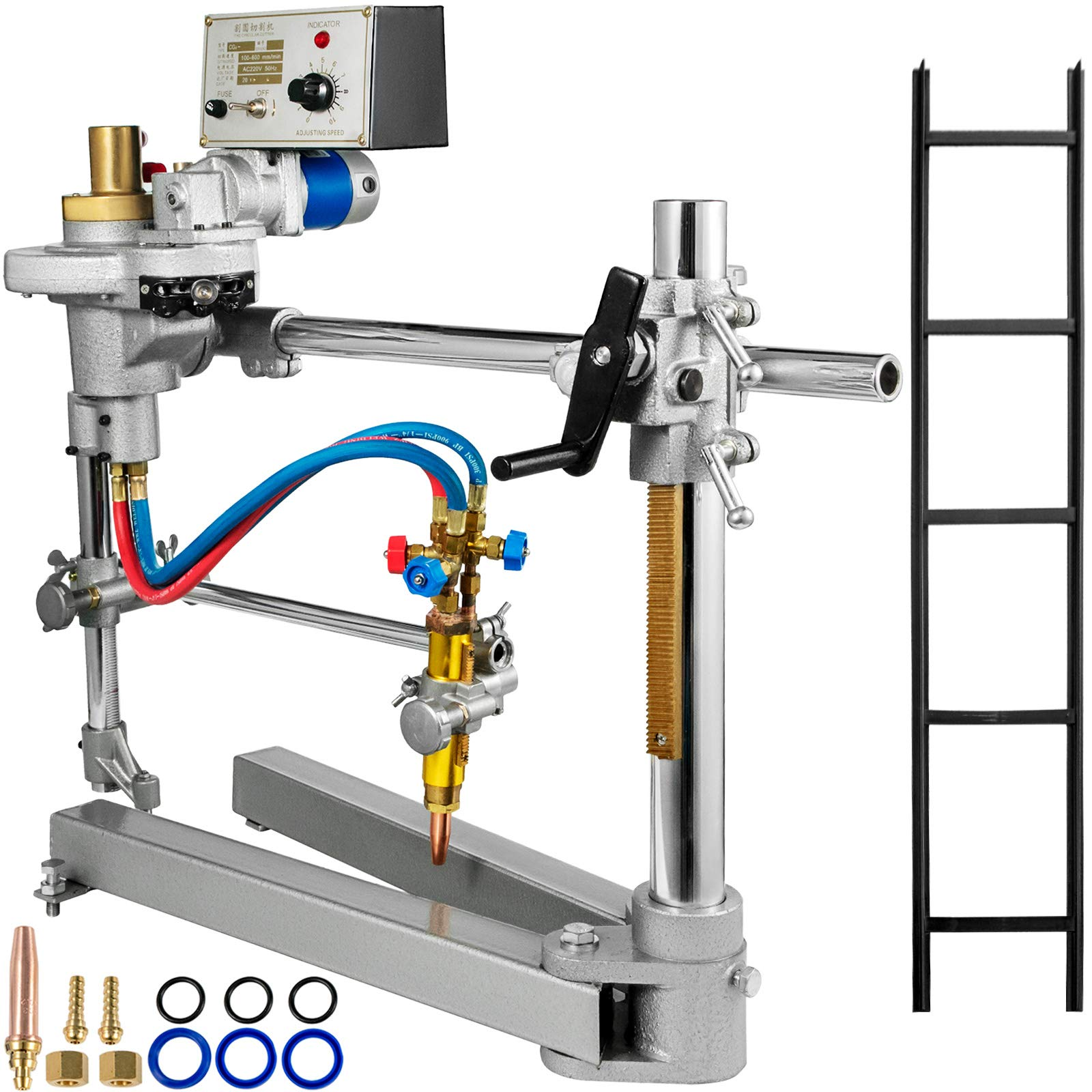 "Mophorn CG2-600 110V Round Semi-Automatic Cutting Machine 1.1-23.6""(30-600mm) Cutting Diameter Track Torch Portable Track Burner Gas Cutting Machine Professional Flame Cutting Machine Metal Cutting"