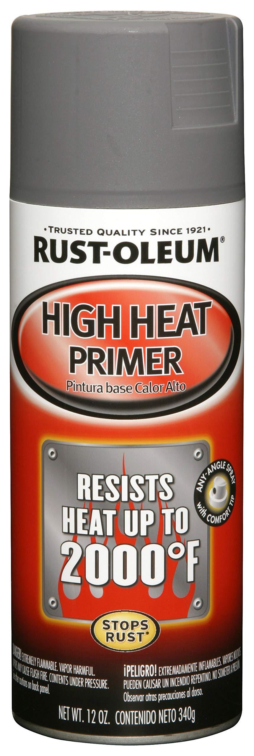 Rust-Oleum 249340 Automotive High Heat Primer Spray Paint, 12 oz, Gray