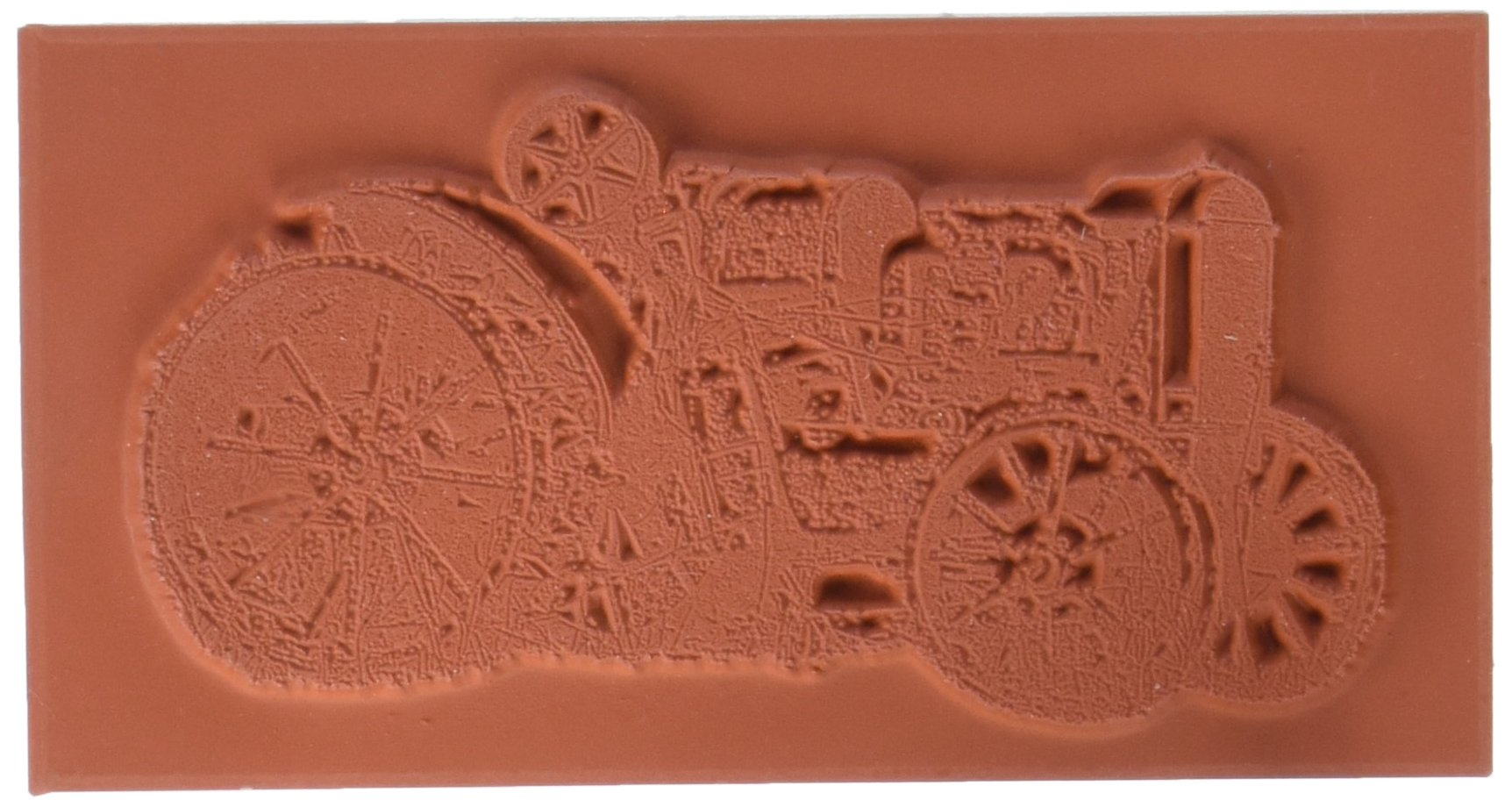 Deep Red Cling Stamp-Rusty Tractor (3x404270)