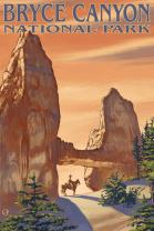 Bryce Canyon National Park, Utah, Tower Bridge 20948 (12x18 SIGNED Print Master Art Print, Wall Decor Poster)