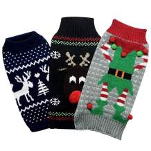 Floppy Dawg Holiday Dog Sweaters. Set of 3 Unique Sweaters Per Pack. Keep Your Dog Cozy All Winter Long.