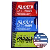 JOOLA Single-Use Table Tennis Paddle Cleaning Wipes (18 Count) - Rubber-Safe, Alcohol/Bleach Free, Citrus Scent, Patent-Pending