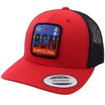 WUE Traveler Trucker Hat Snapback mesh Cap City Airportag