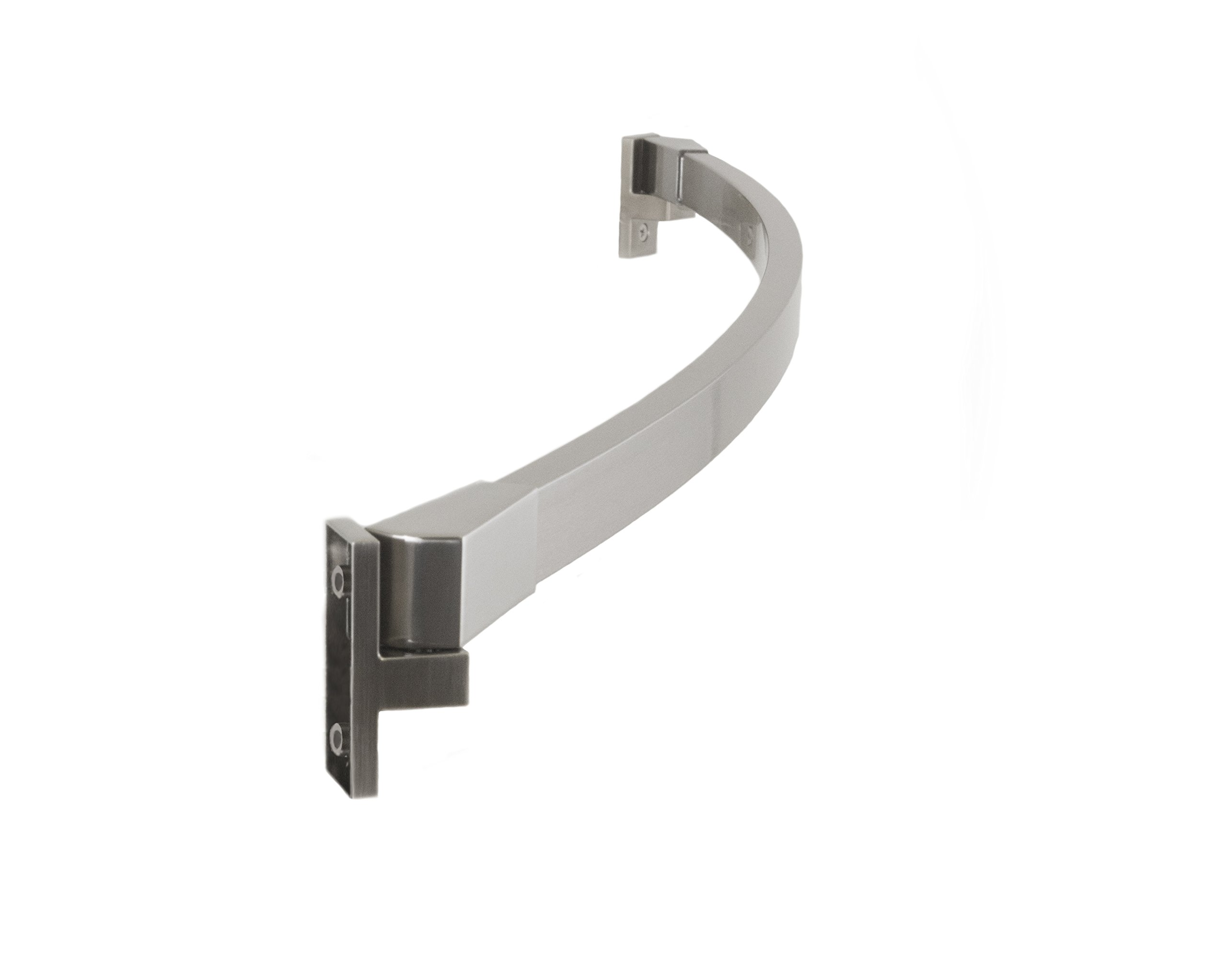 """Preferred Bath Accessories 112-5BN-A Curved Shower Rod Adjustable 42"""" To 62"""", Brushed Nickel"""
