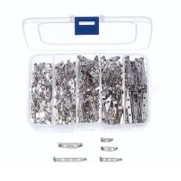 Kissitty 1 Box 5-Size 15mm 20mm 27mm 30mm 38mm Iron Brooch Bar Pins Safety Catch Back Pins Platinum Pack of 250-Count for Craft Jewelry Making