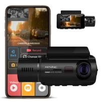 """REXING V3 Basic Dual Camera Front and Inside Cabin Infrared Night Vision Full HD 1080p WiFi Car Taxi Dash Cam with Supercapacitor, 2.7"""" LCD Screen, Parking Monitor, Mobile App"""