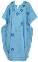 LA LEELA Women's Mini Swimsuit Bikini Stylish Beach Cover Up Kimono Embroidered