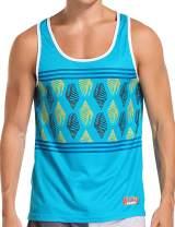 AXESEA Men's Tank Top Printed Cool Loose Gym Fitness Sleeveless T-Shirt Sportswear
