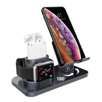 AICase 3 in 1 Charging Stand Compatible with iWatch Series 5/4/3/2/1, AirPods and iPhone 11/11 Pro/11 Pro Max/X/XS/XS Max/XR/8/8Plus/7/7 Plus/6S /6S Plus