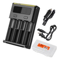 Nitecore i4 2016 New Intellicharger Charger and Battery Organizer for Li-ion/IMR / Ni-MH/Ni-Cd 26650 22650 18650 18490 18350 17670 17500 16340 RCR123 14500 10440 AA AAA C D types