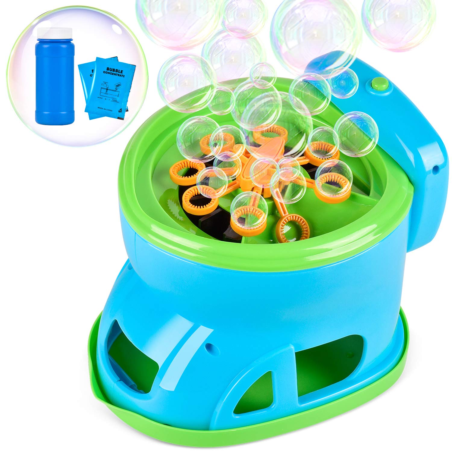 Bubble Machine, Automatic Bubble Maker Cartoon Toilet Over 2100 Bubbles Per Minute Bubble Blower Toy for Kids Boys Girls Easy to Use for Indoor Outdoor Party Wedding Baby Showers ( 2020 New Version)