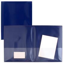 StoreSMART Navy Blue Plastic Archival Folders 5-Pack - Letter-Size Twin Pocket - (R900NB5)