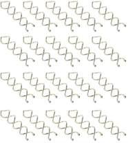 ThEast The metal Spiral Hair Clip Spiral Hair Pin Spin Pin Spin Clip Bun Stick Pick for DIY Hair Style (Silver 16PCS)…