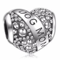 HQCROW 925 Sterling Silver Nurse Stethoscope Vintage Dangle Charms Bead for European Charm Bracelet