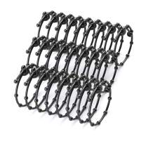 Kwik Bandit Reusable All-Weather Adjustable Gear Ties (8 inch - 25 Pack) - Heavy Duty Rubber Cable Ties and Cord Bundling Straps - Bungee Cords - Made in Canada