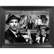 DOLUDO Canvas Wall Art The Rat Pack Shooting Pool Poster Painting Memorabilia Gifts for Guys and Girls Bedroom Wall Decoration No Frame 12x20inch